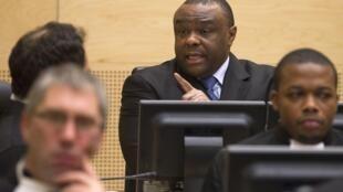 Jean-Pierre Bemba au premier jour de son procès à la Cour pénale internationale à La Haye, le 22 novembre 2010.