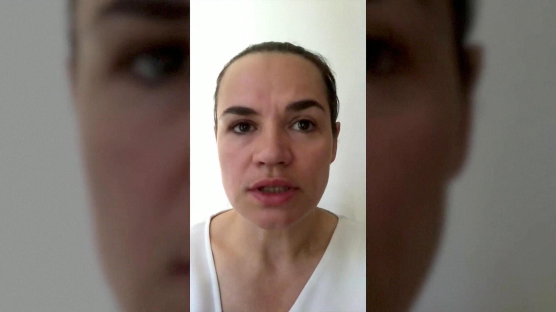 Capture d'écran d'une des vidéos de l'opposante biélorusse Svetlana Tikhanovskaïa diffusées sur les réseaux sociaux.