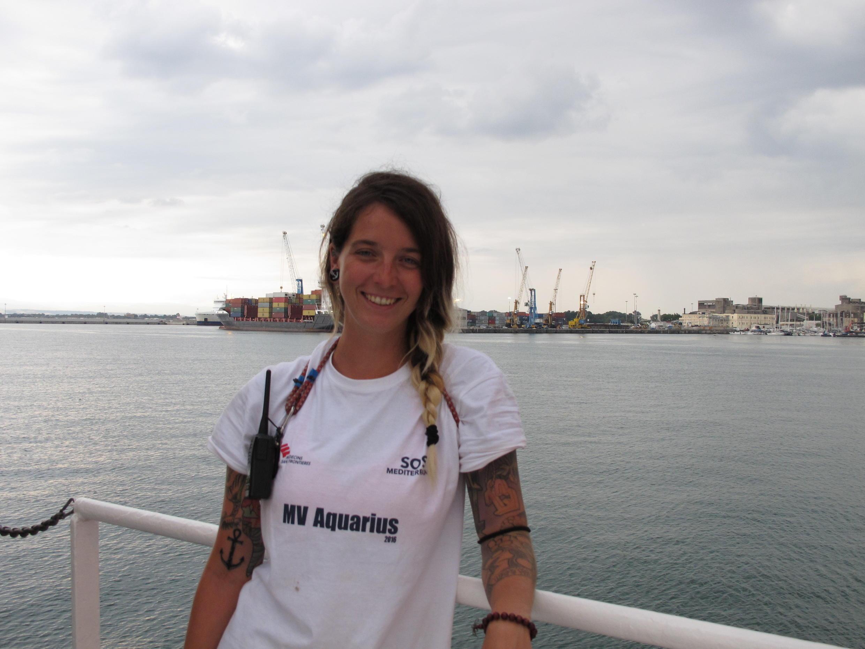 Ani Montez Mier, coordinatrice adjointe de l'équipe de sauvetage.