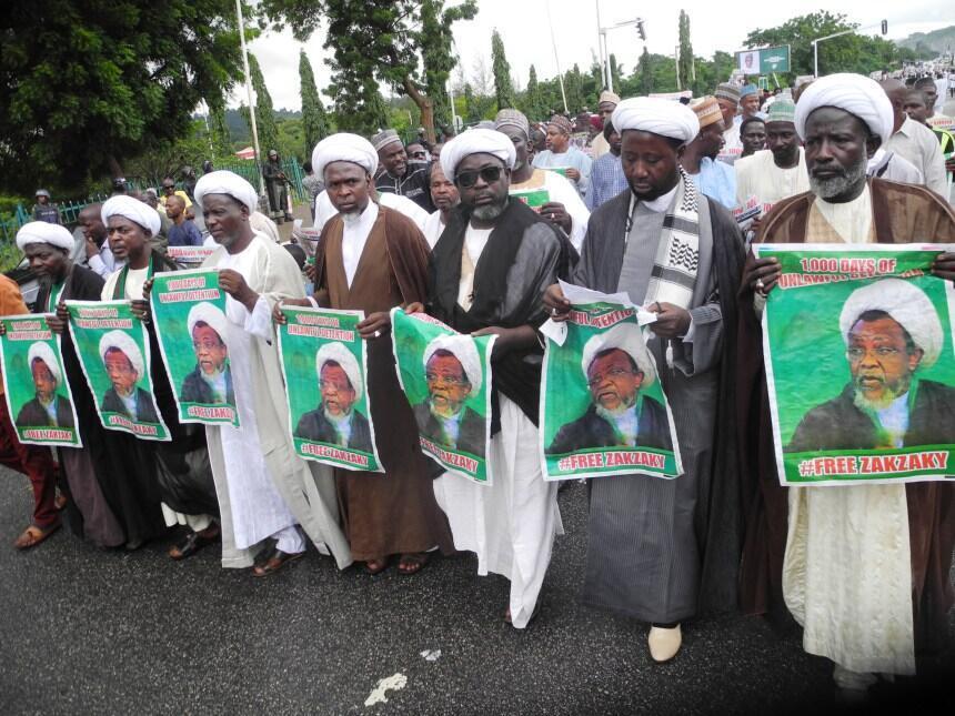 Abuja, août 2018: manifestation de chiites militants ou sympathisants du MIN en soutien au cheikh Ibrahim el-Zakzaky pour le 1000e jour de sa détention (illustration).