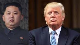 Os Presidentes Kim Jong - Un e Donald Trump