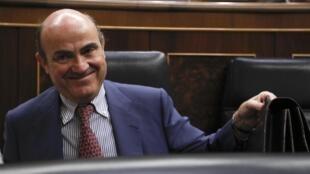 El ministro español de Economía Luis de Guindos.