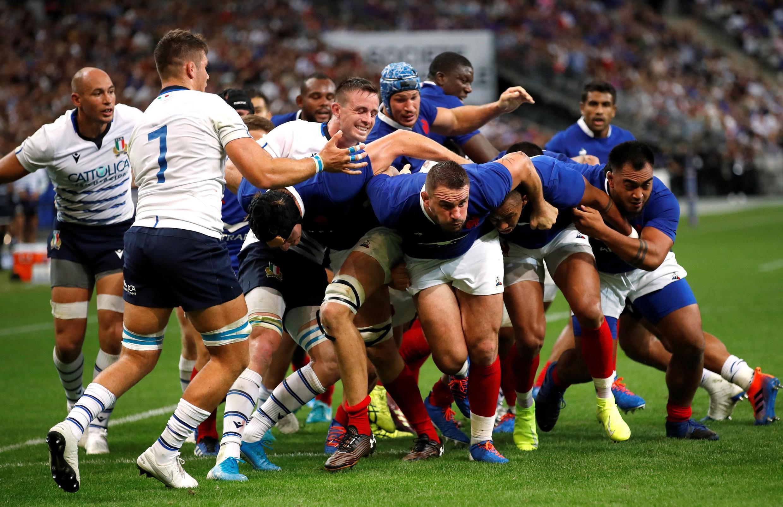 Le XV de France face à l'Italie, au Stade de France le 30 août 2019.