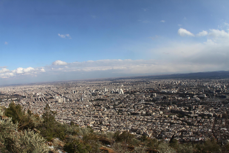A cidade de Damasco.