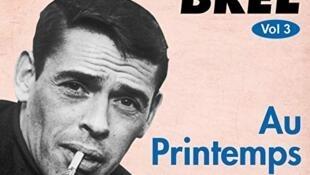 """Portada original del disco de Jacques Brel """" Au Printemps"""" editado en 1958"""