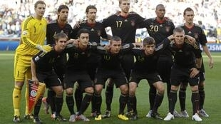 Le onze allemand auteur d'un 4-0 sans appel contre l'Argentine en quarts de finale, le 3 juillet 2010.