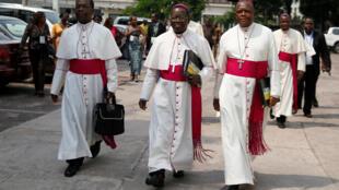 Wajumbe wa Baraza la Maaskofu wa Kanisa Katoliki DRC.