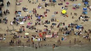 La plage d'Ostende, en Belgique, le 8 août 2020.