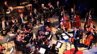 L'Orchestre philharmonique de Vienne, ici en Chine pour un concert le 27 décembre 2011.