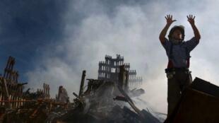 Bombeiro pede reforço no dia dos atentados de 11 de setembro
