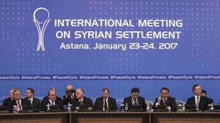 Primeira ronda de negociações de paz sobre a Síria em Astana, Cazaquistão.