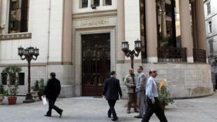 Devant la Bourse du Caire, ce dimanche 25 novembre 2012.