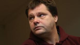 Frank Van Den Bleeken , lors du procès destiné à examiner la possibilité de son euthanisie. palais de justice de  Bruxelles, le 25 November 2013.