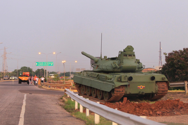 Venezuela : Ảnh xe tăng tham gia tập trận ở Maracaibo. Ảnh 25/08/2017.