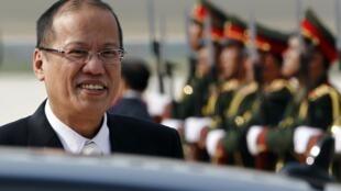 Tổng thống Philippines Benigno Aquino tới Viên Chăn, Lào, ngày 04/11/2012, dự Thượng đỉnh ASEM