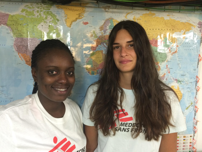 Sarah Adeyinka et Asma Mullet, médiatrices culturelles à bord de l'Aquarius.