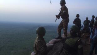 Poste avancé de l'armée camerounaise à Mabass.