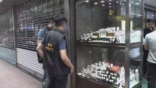 案发香港九龙尖沙咀么地道钟表商店资料图片