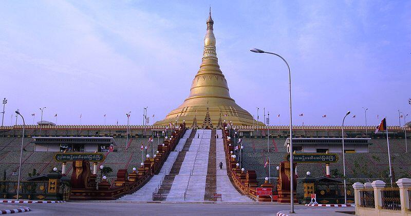 Một ngôi chùa lớn tại thủ đô Naypyidaw