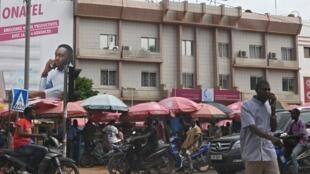 Sur le marché de Ouagadougou, le 23 septembre 2019.