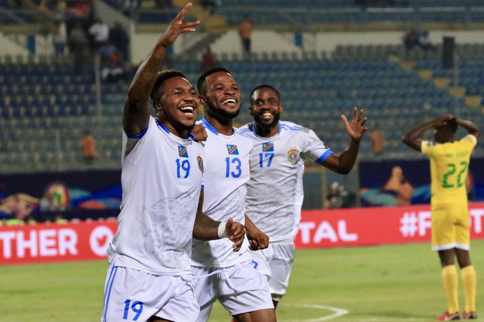 La joie des Congolais, qualifiés pour les huitièmes de finale de la CAN 2019.