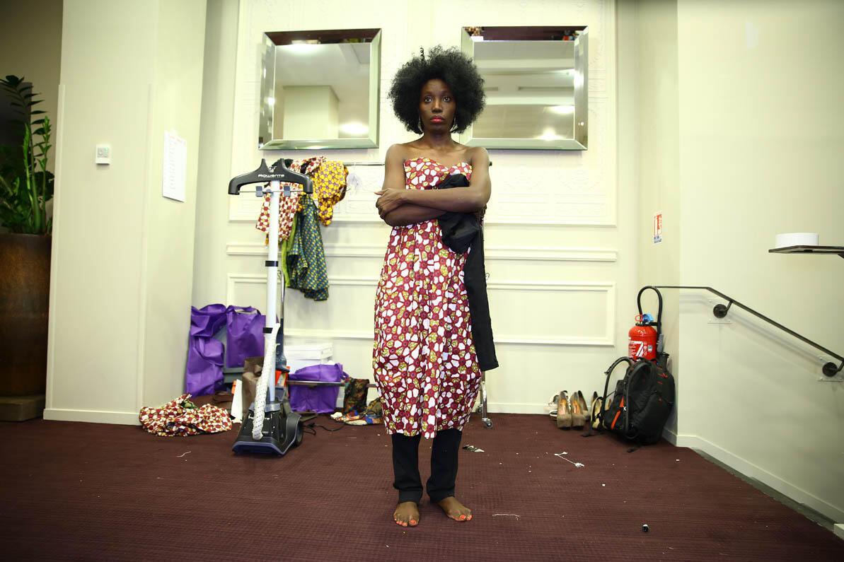 Adama Black, créatrice de la Black Fashion Week parisienne.