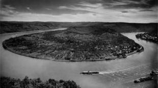 La boucle du Rhin près de Boppard, 1938.