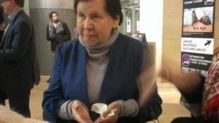 Светлана Кармалита на открытии ретроспективы фильмов Алексея Германа в Париже