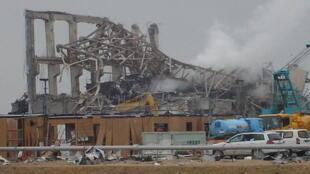 O reator 4 do complexo nuclear de Fukushima.