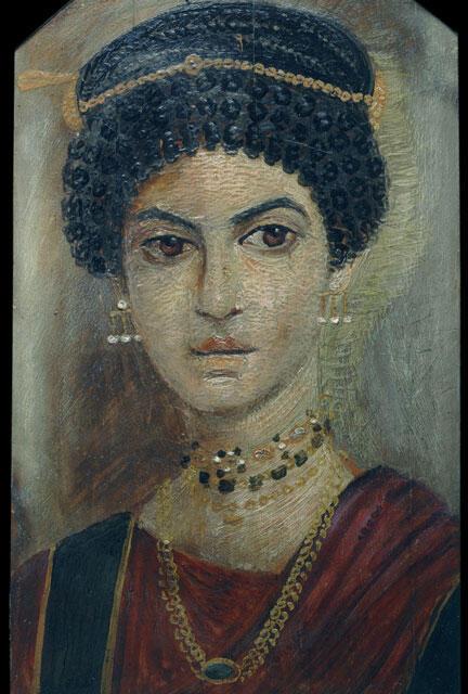 Portrait féminin de Hawara, oasis du Fayoum, (110-130 ap.J.C.)