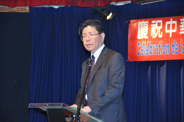 台灣駐法代表張銘忠在慶祝蔡英文就職總統酒會上致辭(2016年5月20日)