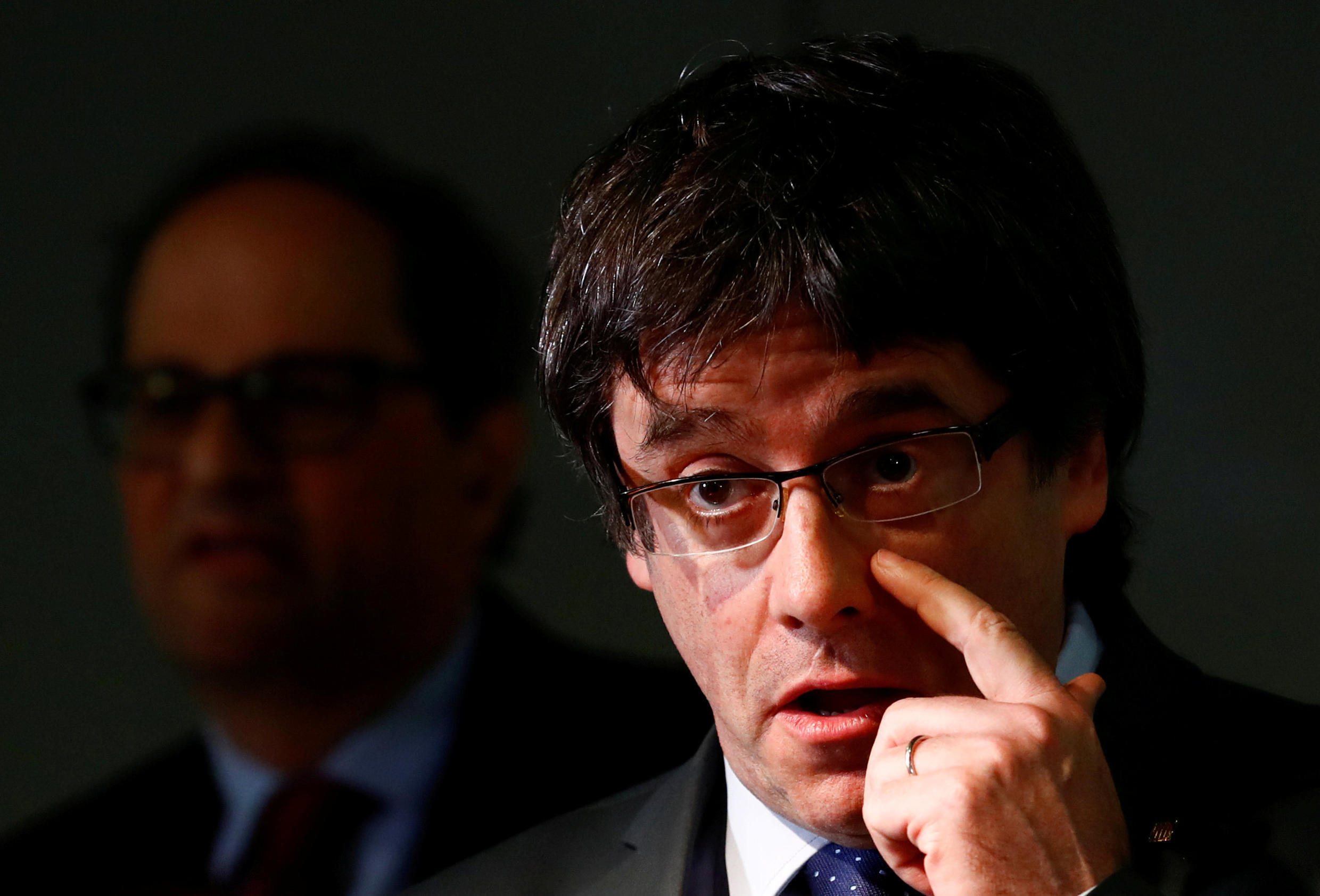 Exiled Catalan separatist leader, Carles Puigdemont, triumphant in the wake of Belgian court decision.