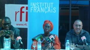Cheikh Fall, Ramatoulaye Diagne et Olivier Sagna.