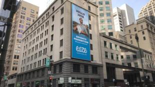 Publicididad anticipando la venta de marihuana recreativa, el 29 de diciembre de 2017 en San Francisco, California.