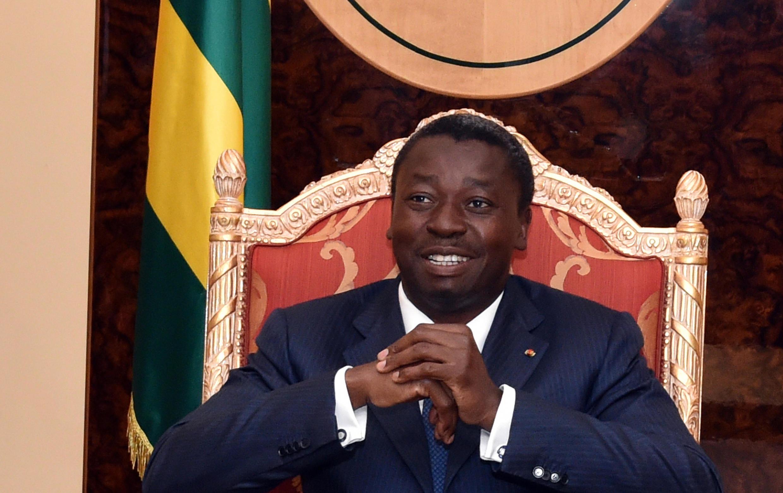 Le président togolais, Faure Gnassingbé, au palais présidentiel de Lomé, en avril 2015.