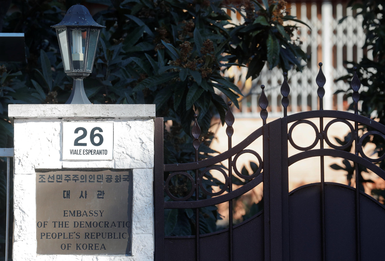 Ambassade nord-coréenne dans la capitale italienne.