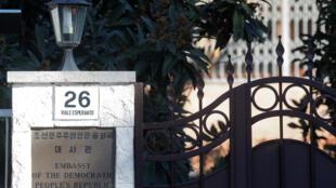 Entrada da embaixada norte-coreana em Roma, em 3 de janeiro de 2019.