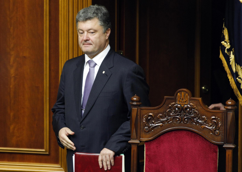 Петр Порошенко в Верховной Раде в Киеве 19/06/2014