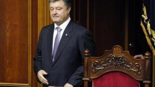 Петр Порошенко в Верховной Раде в Киеве