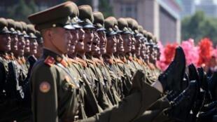 Cérémonie des 70 ans de la fondation du régime de Corée du Nord. Pyongyang, le 9 septembre 2018