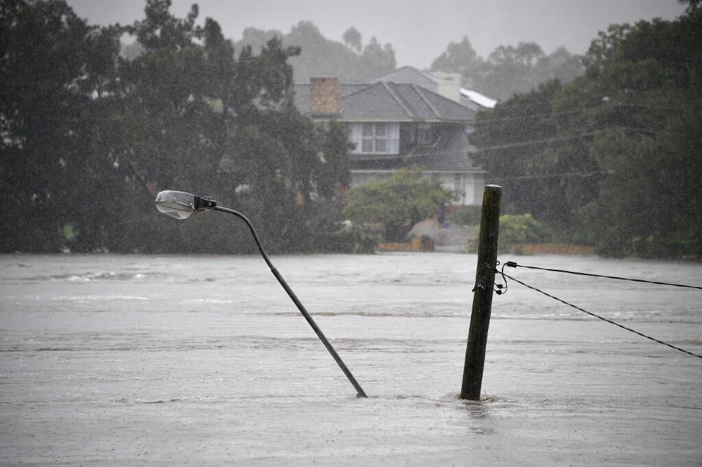 Syndey et sa région sont victimes des pires inondations depuis un demi siècle, en Australie, le 21 mars 2021.