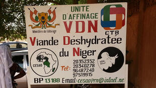 Devant le siège du CESAO, Pôle Régional Niger, à Niamey.