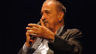 Jean-Claude Carrière à la BNF pour un cours sur le scénario dans le cadre du festival Paris-Cinéma, le 3 juillet 2008.