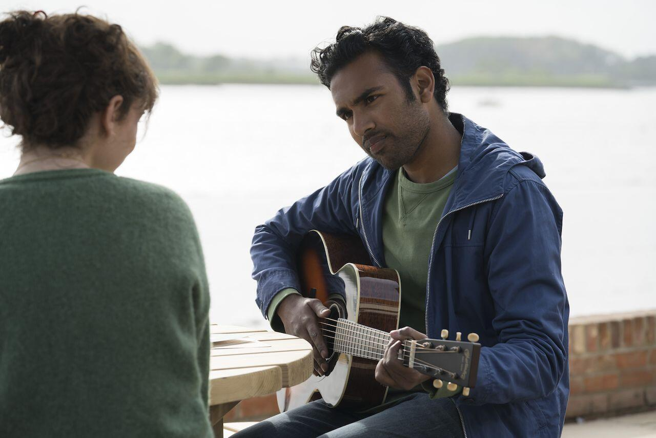 Himesh Patel as born again Beatle, Jack Malik serenades Lily James as his crush Ellie Appleton in 'Yesterday' by Danny Boyle and Richard Curtis
