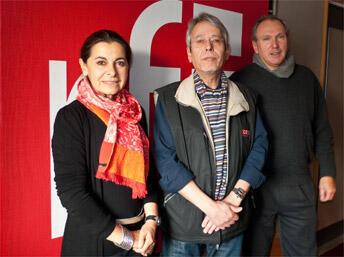 De gauche à droite, Anne-Marie Detay, Jean-Yves Casgha et Michel Detay.