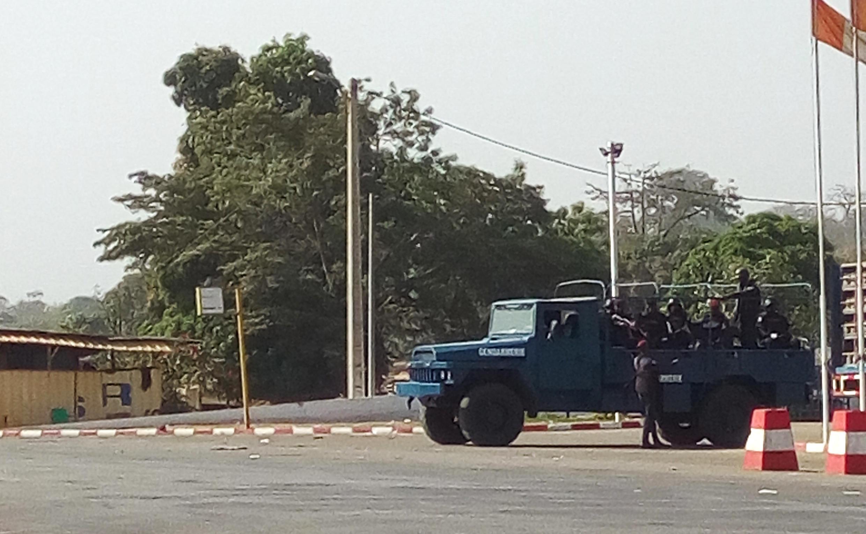 Gari la polisi katika mji wa Bouake, Januari 6, 2017.