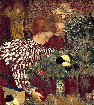Эдуар Вюйар. Полосатый корсаж. 1895. Национальная галерея искусства, Вашингтон. Коллекция Поля Меллона.