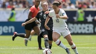 Record breaker: Carli Lloyd of the USA who scored in six consecutive Women's World Cup matches.