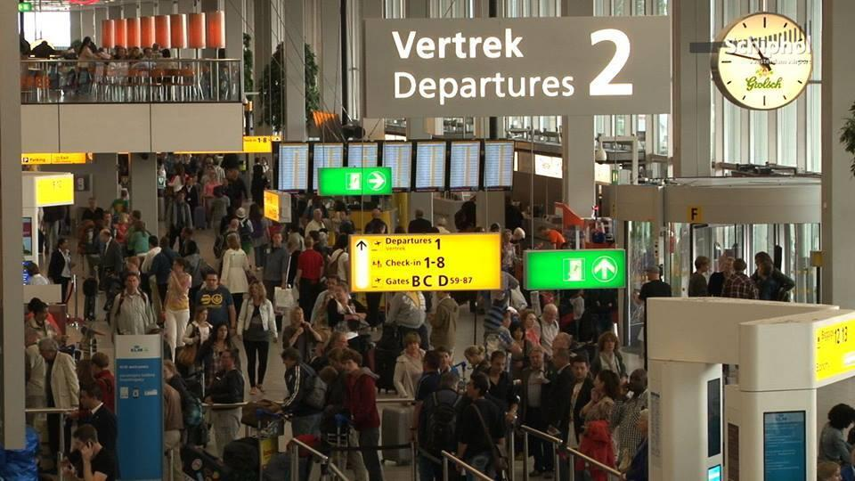 Aéroport d'Amsterdam-Schiphol.