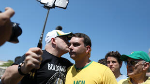 Flavio Bolsonaro, hijo de Jair Bolsonaro en Rio de Janeiro, el 9 de septiembre de 2018.